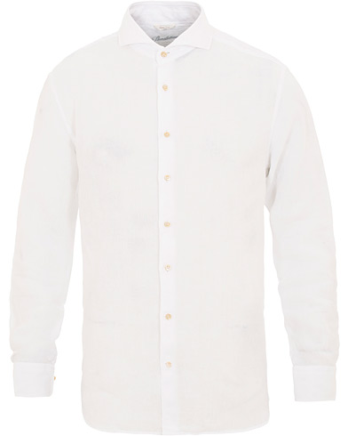 Stenströms Fitted Body Cut Away Linen Shirt White i gruppen Kläder / Skjortor / Casual / Linneskjortor hos Care of Carl (15480411r)