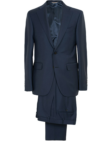 Canali Capri Wool Suit Navy