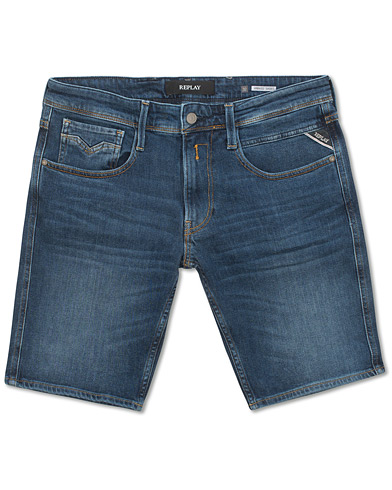 Replay Anbass Jeansshorts Blue i gruppen Kläder / Shorts / Jeansshorts hos Care of Carl (15494611r)