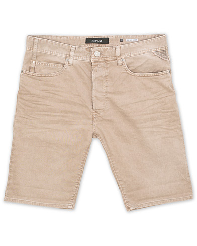 Replay Anbass Jeanshorts Sand i gruppen Kläder / Shorts / Jeansshorts hos Care of Carl (15495511r)