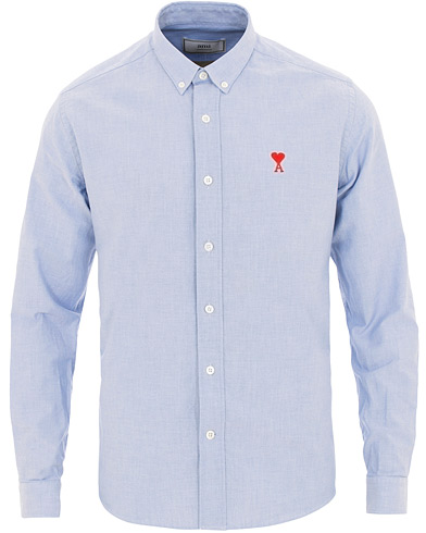 AMI Oxford Shirt Light Blue i gruppen Kläder / Skjortor / Casual / Oxfordskjortor hos Care of Carl (15497111r)