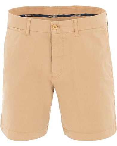 Morris Light Twill Chino Shorts Khaki i gruppen Kläder / Shorts / Chinosshorts hos Care of Carl (15509811r)