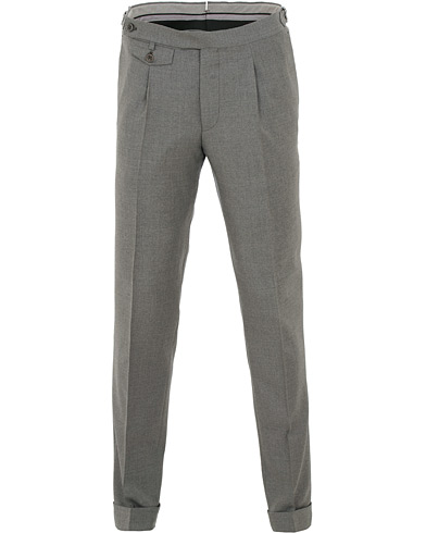 Morris Heritage Jason Plain Trousers Grey i gruppen Kläder / Byxor / Kostymbyxor hos Care of Carl (15514011r)