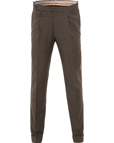Morris Heritage Jason Structured Trousers Brown