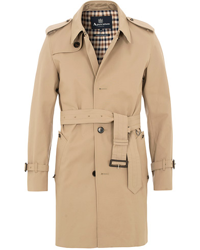 Aquascutum Corby Single Breasted Trenchcoat Camel i gruppen Kläder / Jackor / Rockar hos Care of Carl (15533911r)