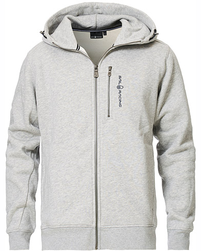 Sail Racing Bowman Full Zip Hoodie Grey Melange i gruppen Kläder / Tröjor / Huvtröjor hos Care of Carl (15552211r)