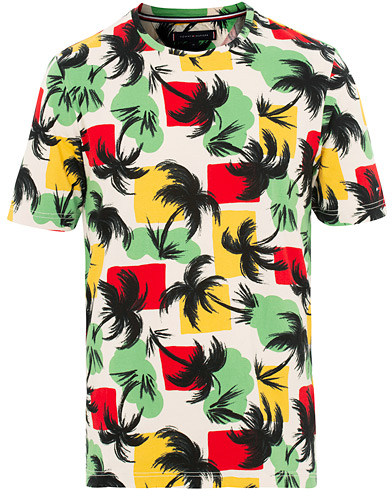 Tommy Hilfiger Palm All Over Print Relax Fit Tee Oatmeal i gruppen Kläder / T-Shirts / Kortärmade t-shirts hos Care of Carl (15557611r)