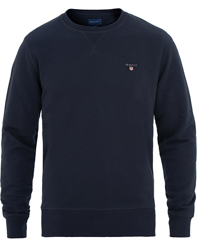 GANT Crew Neck Sweatshirt Evening Blue i gruppen Kläder / Tröjor / Sweatshirts hos Care of Carl (15570211r)
