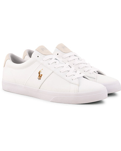 Polo Ralph Lauren Sayer Canvas Sneaker White i gruppen Skor / Sneakers / Låga sneakers hos Care of Carl (15583411r)