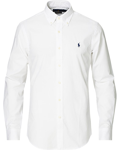 Polo Ralph Lauren Slim Fit Shirt Poplin White i gruppen Kläder / Skjortor / Casual / Casualskjortor hos Care of Carl (15583811r)