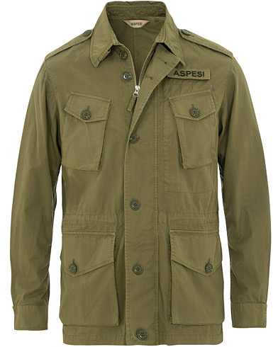 Aspesi Vancouver Cotton Field Jacket Military Green i gruppen Kläder / Jackor / Field jackets hos Care of Carl (15584211r)
