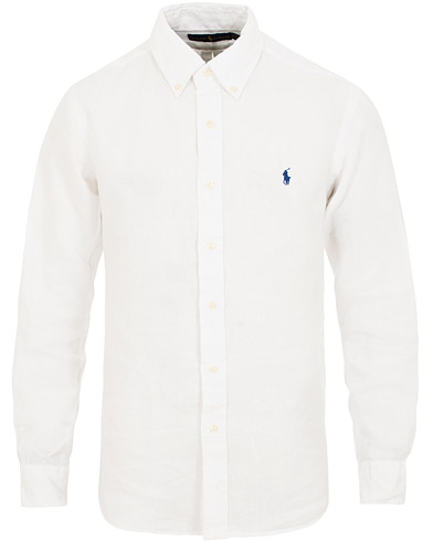 Polo Ralph Lauren Core Fit Linen Shirt Pure White i gruppen Kläder / Skjortor / Casual / Linneskjortor hos Care of Carl (15592811r)
