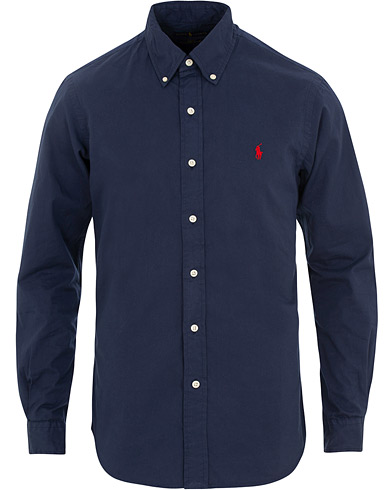 Polo Ralph Lauren Slim Fit Featherweight Twill Shirt Newport Navy