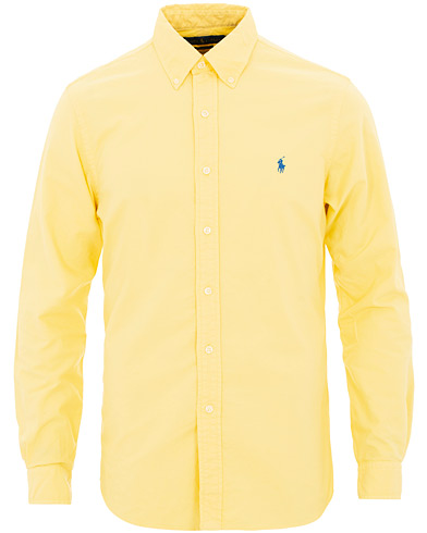 Polo Ralph Lauren Slim Fit Garment Dyed Oxford Shirt Empire Yellow i gruppen Kläder / Skjortor / Casual / Oxfordskjortor hos Care of Carl (15593911r)