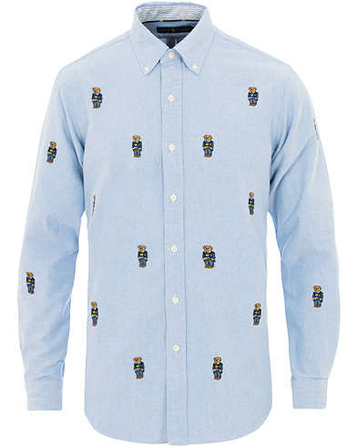 Polo Ralph Lauren Core Fit Woven Bear Oxford Shirt Light Blue i gruppen Kläder / Skjortor / Casual / Oxfordskjortor hos Care of Carl (15596011r)