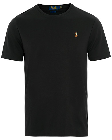 Polo Ralph Lauren Luxury Pima Cotton Crew Neck Tee Black i gruppen Kläder / T-Shirts / Kortärmade t-shirts hos Care of Carl (15599411r)