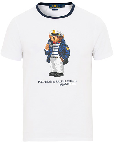 Polo Ralph Lauren Skipper Bear Crew Neck Tee White i gruppen Kläder / T-Shirts / Kortärmade t-shirts hos Care of Carl (15601111r)