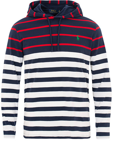 Polo Ralph Lauren Long Sleeve Hoodie White/Multi i gruppen Kläder / T-Shirts / Långärmade t-shirts hos Care of Carl (15601611r)