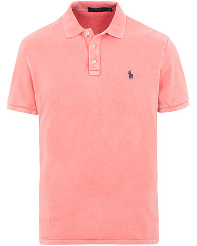Polo Ralph Lauren Custom Slim Fit Spa Terry Polo Red Sky i gruppen Kläder / Pikéer / Kortärmade pikéer hos Care of Carl (15604211r)