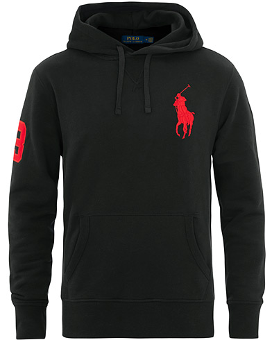 Polo Ralph Lauren Big Pony Hoodie Black i gruppen Kläder / Tröjor / Huvtröjor hos Care of Carl (15609111r)