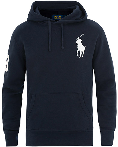 Polo Ralph Lauren Big Pony Hoodie Aviator Navy i gruppen Kläder / Tröjor / Huvtröjor hos Care of Carl (15609311r)