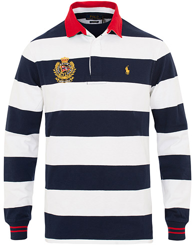 Polo Ralph Lauren Crest Stripe Rugger White/Navy i gruppen Kläder / Tröjor / Rugbytröjor hos Care of Carl (15609711r)