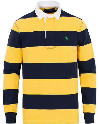 Polo Ralph Lauren Stripe Rugger Yellow/Navy i gruppen Kläder / Tröjor / Rugbytröjor hos Care of Carl (15610011r)