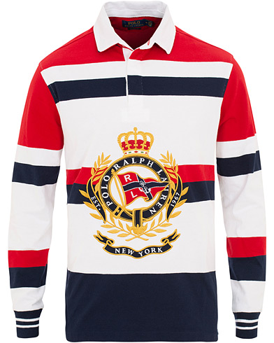Polo Ralph Lauren Newport Crest Rugger White/Red i gruppen Kläder / Tröjor / Rugbytröjor hos Care of Carl (15610611r)