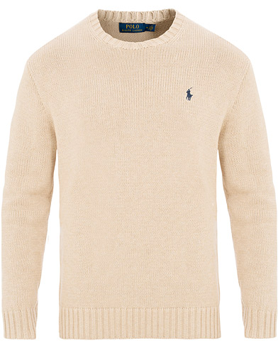 Polo Ralph Lauren Cotton Crew Neck Pullover Sand Heather i gruppen Kläder / Tröjor / Stickade tröjor hos Care of Carl (15612711r)
