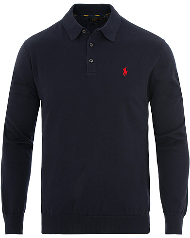 Polo Ralph Lauren Knitted Poloshirt Hunter Navy i gruppen  hos Care of Carl (15612911r)