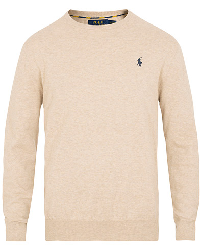 Polo Ralph Lauren Pima Cotton Pullover Sand Heather i gruppen  hos Care of Carl (15613311r)