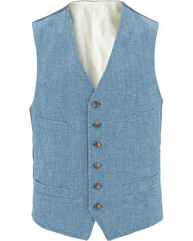Polo Ralph Lauren Chambray Waistcoat Light Washed i gruppen Kläder / Kavajer / Västar hos Care of Carl (15614811r)