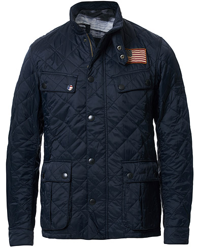 Barbour International Steve McQueen Jeffries Quilted Jacket Navy i gruppen Kläder / Jackor / Quiltade jackor hos Care of Carl (15618511r)