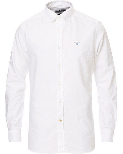 Barbour Lifestyle Tailored Fit Oxford 3 Shirt White i gruppen Kläder / Skjortor / Casual / Oxfordskjortor hos Care of Carl (15620711r)