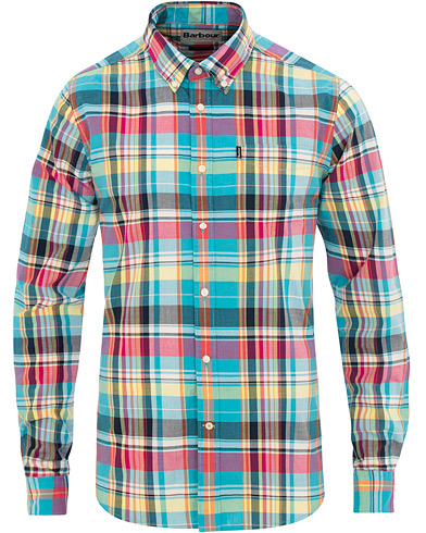 Barbour Lifestyle Tailored Fit Madras 2 Shirt Aqua i gruppen Kläder / Skjortor / Casual / Casual skjortor hos Care of Carl (15621111r)