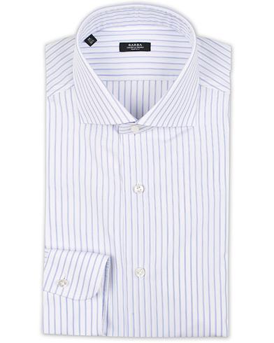 Barba Napoli Napoli Slim Fit Classic Stripe Shirt White/Blue