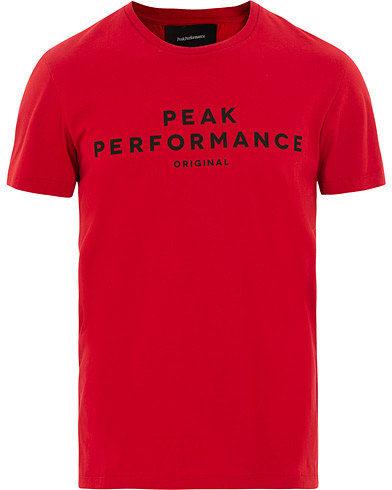 Peak Performance Original Tee Chilli Pepper i gruppen Kläder / T-Shirts / Kortärmade t-shirts hos Care of Carl (15659011r)