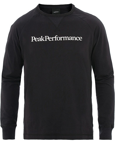 Peak Performance Walt Long Sleeve Tee Black i gruppen Kläder / T-Shirts / Långärmade t-shirts hos Care of Carl (15659311r)
