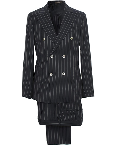 Oscar Jacobson Erik Double Breasted Stripe Blazer Navy i gruppen Kläder / Kostymer hos Care of Carl (15661911r)