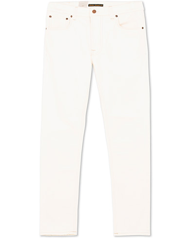 Nudie Jeans Lean Dean Organic Jeans Ecru White