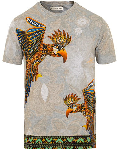 Etro Regular Fit Printed Tee Grey Melange i gruppen Kläder / T-Shirts / Kortärmade t-shirts hos Care of Carl (15683611r)