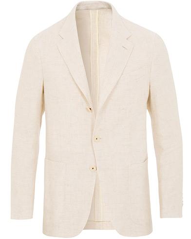 Caruso Butterfly Cotton/Linen Blazer White