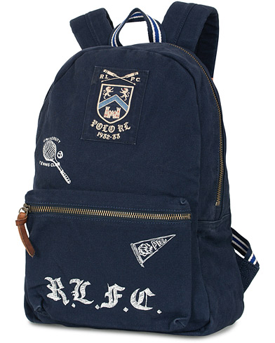 Polo Ralph Lauren Boathouse Canvas Backpack Navy  i gruppen Accessoarer / Väskor / Ryggsäckar hos Care of Carl (15687110)