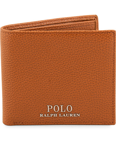 Polo Ralph Lauren Billfold Leather Wallet Polo Tan  i gruppen Accessoarer / Plånböcker / Vanliga plånböcker hos Care of Carl (15688010)