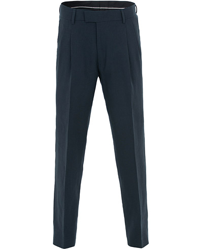 Tiger of Sweden Trolosa Double Pleated Linen Trousers Navy i gruppen Kläder / Byxor / Linnebyxor hos Care of Carl (15712211r)