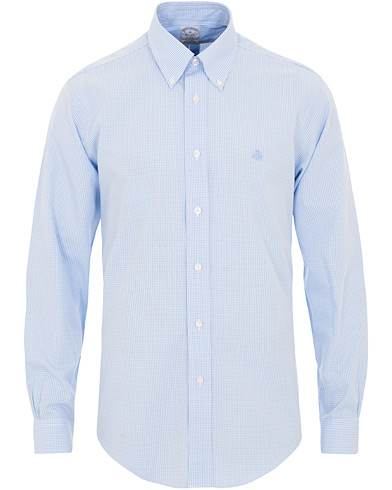 Brooks Brothers Regent Fit Non Iron Gingham Button Down Shirt Blue i gruppen Kläder / Skjortor / Casual / Casual skjortor hos Care of Carl (15728311r)