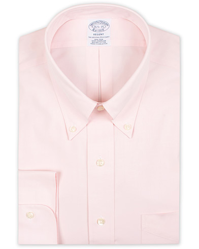 Brooks Brothers Regent Fit Non Iron Pocket Shirt Solid Pink