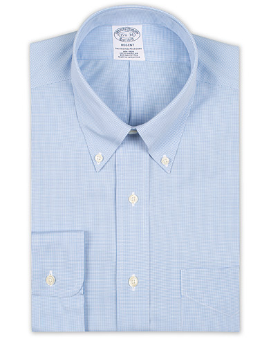 Brooks Brothers Regent Fit Non Iron Houndstooth Shirt Blue i gruppen Kläder / Skjortor / Formella / Businesskjortor hos Care of Carl (15728711r)