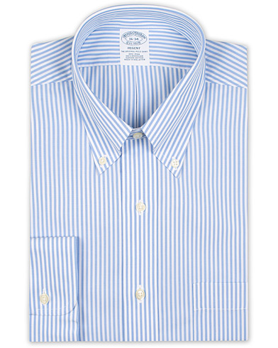 Brooks Brothers Regent Fit Non Iron Bengal Shirt Light Blue i gruppen Kläder / Skjortor / Formella / Businesskjortor hos Care of Carl (15728811r)