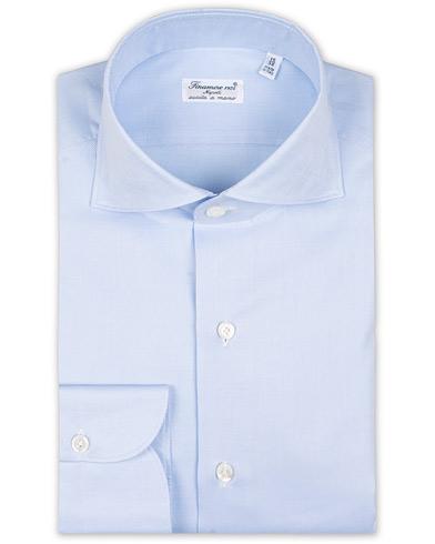 Finamore Napoli Milano Slim Fit Royal Oxford Shirt Light Blue